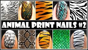 animal print nail art 2 easy nail design tutorials for