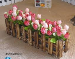 Artificial Flower Decorations For Home Buy Natural Garden Wooden Fence For Artificial Flowers Arrangement