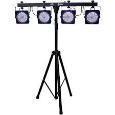 stage lighting tripod stands amazon com chauvet dj 4 bar led wash light system w foot switch