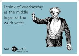 Wednesday Meme Funny - i think of wednesday as the middle finger of the work week