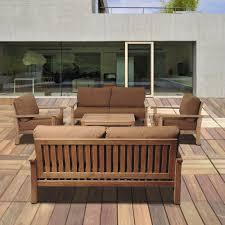 amazonia todds 5 piece teak patio seating set with sunbrella