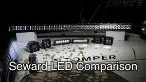 Led Off Road Lights Cheap Seward Offroad Led Light Comparison By Stomper Off Road Youtube