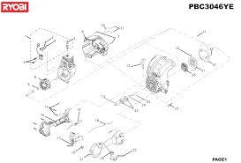 ryobi pbc3046ye type no 1000019317 spare parts list