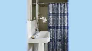 bathroom ideas with shower curtain make a small bath look larger