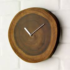 splendid design wooden wall clock plain simple wood home designing