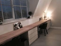 bureau malm bureau ikea malm met eiken blad diy projet chambre