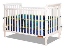 Toddler Bed With Rail Amazon Com Athena Naomi 4 In 1 Crib With Toddler Rail White