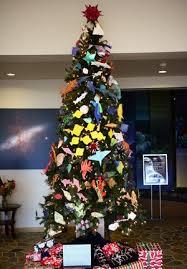 origami sea creatures adorn tree at uh hilo s astronomy