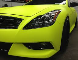 custom highlighter yellow vehicle wraps protected by armor fusion