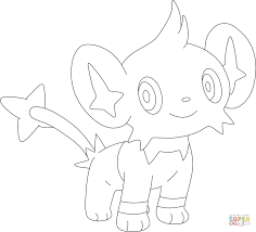 shinx coloring page free printable coloring pages