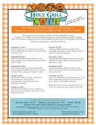 family garden menu holy grill cafe u2013 lakeridge umc