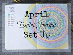 bullet journal set up and march review pushing moon