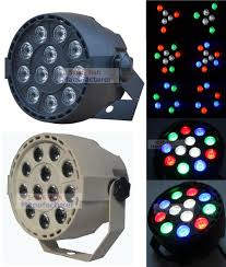 small flat led lights flat led par stage light rgbw 12x3w disco party lights laser dmx luz