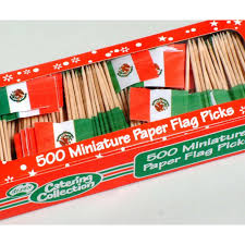 Miniature Flags Flag Toothpicks Mexican 500 Pk Catering Supplies Party