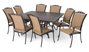 Belleville Patio Furniture Hampton Bay Belleville 7 Piece Padded Sling Outdoor Dining Set
