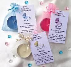 baby showers favors 10 personalised baby shower favors scented candles thank you