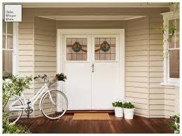 dulux whisper white doors exterior colour scheme pinterest