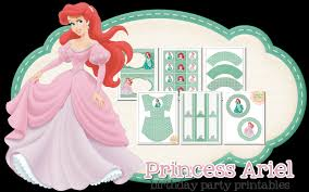 princess ariel birthday party peonies poppyseeds resources