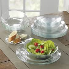 duralex lys clear glass dinner ware plates set of 6 dinner