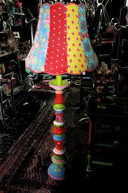 Wohnzimmer Lampe Klein Stehlampe Bunte Designer Lampe Upcycling Omalampe Ooak Weihnachten