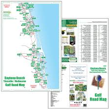 Daytona Florida Map by Golf Maps Fore Better Golf Inc