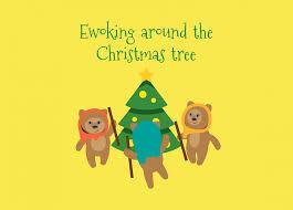 ewoking around the christmas tree star wars holiday infographic