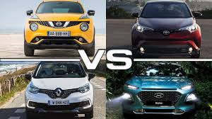 renault nissan cars 2016 nissan juke vs 2017 toyota c hr vs 2018 renault captur vs