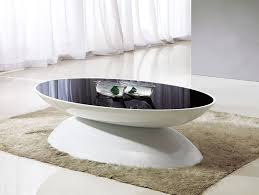 Oval Glass Coffee Table by Black Glass Coffee Table Image Is Loading Black Modern Coffee