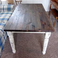 Shabby Chic White Dining Table by Furniture Refashions Shabby Chic Refinished Dining Table