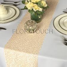 gold lace table runner chagne gold lace table runner with scalloped edge wedding table