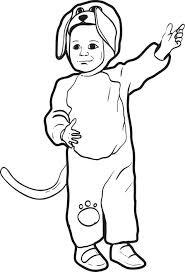 Dog Halloween Costumes Kids Free Printable Puppy Dog Halloween Costume Coloring Kids