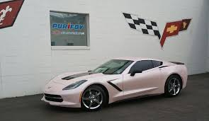 pearl white corvette 2014 corvette stingray painted pink by purifoy chevrolet gm