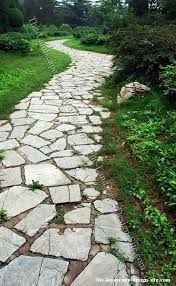inexpensive walkways and paths natural flagstone garden path