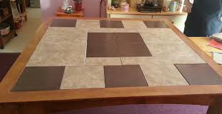 ceramic tile table top ceramic tile and wood play well together in a tabletop silive com