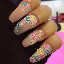 acrylic flower nail designs how you can do it at home pictures