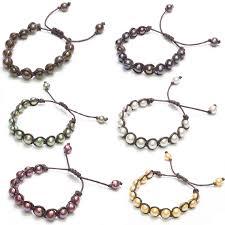 black pearl bracelet images 2018 10mm round natural freshwater pearl bracelet hand rope black jpg