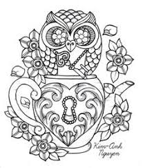 free coloring page 015 fw d006 bliss owl and coloring
