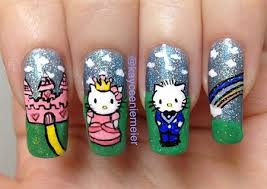 easy hello kitty nail art designs ideas u0026 stickers 2013 2014