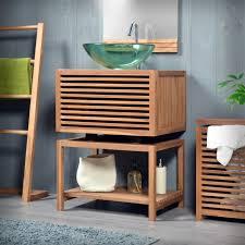 holzmöbel badezimmer waschtisch aus holz und andere rustikale badezimmer ideen