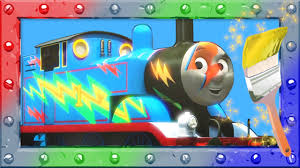 magic coloring thomas tank engine learn color