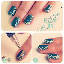 diy dotty nail art tutorial from the beauty department here the