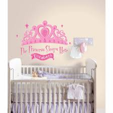 kids wall decals walmart com roommates princess sleeps here peel and stick giant wall decal with personalization