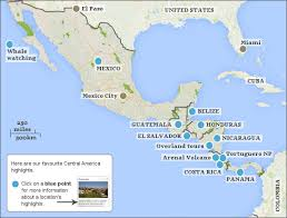 america map guatemala central america itineraries responsible travel guide to central
