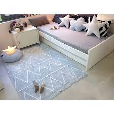 tapis chambre enfant tapis lavable hippy bleu avec franges chambre bébé garçon regarding
