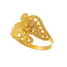 finger ring design designer womens engagement golden ring design at rs 32000
