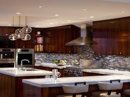 Led Backsplash by Interior Led Recessed Lights With Cream Marble Countertop