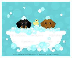 Dogs In The Bathtub Amazon Com 209d Two Dachshund Dogs In Bubble Bath Bathtub