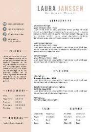 Cv Sjabloon Nederlands cv templates en cv voorbeelden talent
