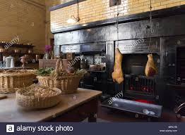 cragside historic house northumberland uk interior the kitchen