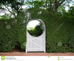 arched garden arbor and gate stock photo image 43471496